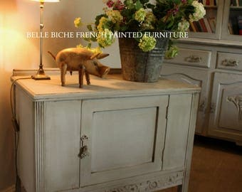SOLD  *** Similar Piece en-route ****  Pretty Flemish 'Hand Painted' Cabinet