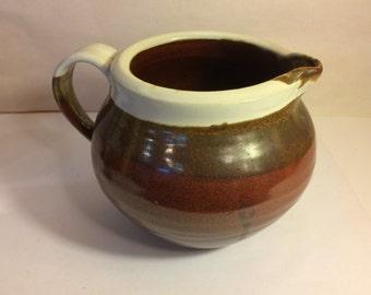 Ceramic Small Pitcher with Brown glaze