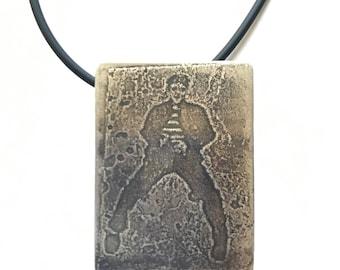Jail House Rock Elvis Tribute Pendant Necklace
