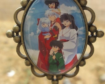 Inuyasha and Family Pendant with chain