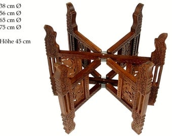 Egyptian Moroccan Vintage India Table Base Folding Table Base Carved Wooden  Oriental Islamic Style Coffee /