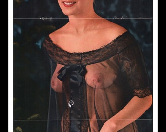 "Mature Playboy December 1962 : Playmate Centerfold June Cochran Gatefold 3 Page Spread Photo Wall Art Decor 11"" x 23"""