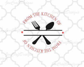 Split Kitchen Utensils Vector Digital Cut File Set in Svg, eps, dxf and PNG Format for Cricut and Silhouette