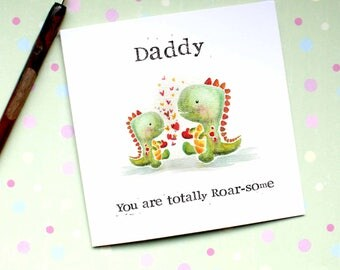 Daddy Card, Dinomite Card, Cute Daddy Card, Fathers Day Card, Dad Card, Dino Dad Card, New Daddy Card, From Son, From Baby Boy, C31D