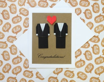 Gay wedding card Etsy