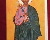 ST JOSEPH, icon, Catholic, saints, Byzantine, greeting card, Joseph the Worker,religious card, Christmas