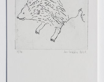 Lion (Copper Plate Etching, 2015)