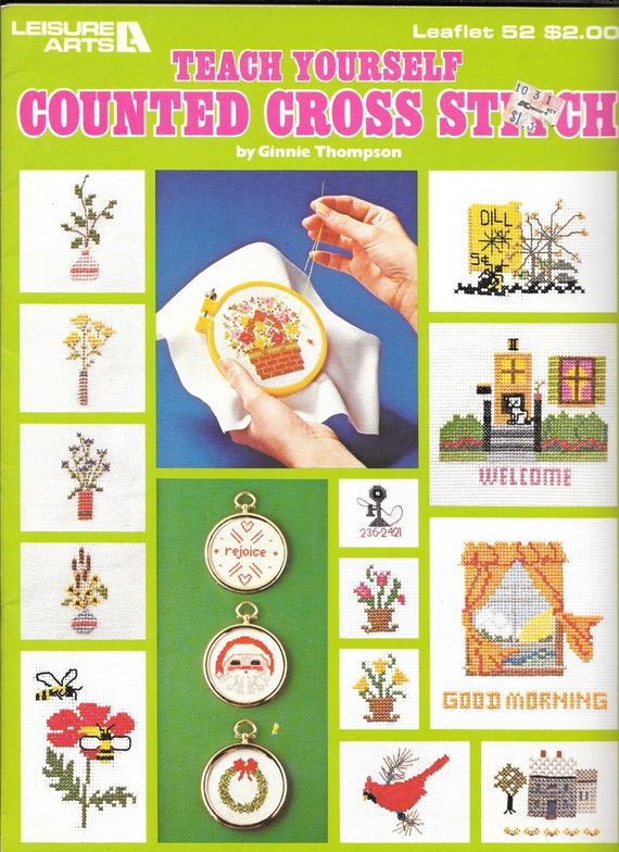Teach Yourself Counted Cross Stitch By Ginnie Thompson