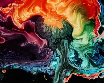 Ink Abstract Digital Art and Photography