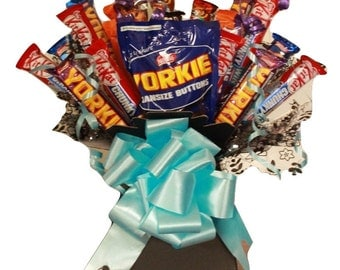 Man's Chocolate Bouquet, 18 Piece Variety Chocolate Box, Chocolate Hamper, Perfect Gift For Him, Gift for Dad, Chocolate selection Box