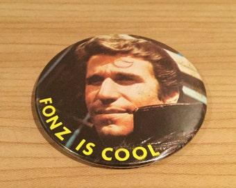Vintage Fonz Is Cool Happy Days Badge