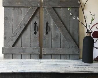 Door Wall Decor rustic barn door | etsy