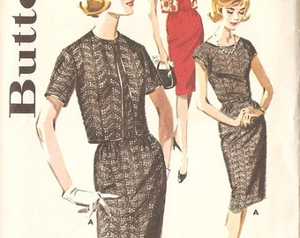 "Butterick 2636 Misses' 1960's Dress - Size 16 Bust 36"" - Rockabilly - Wiggle Dress"