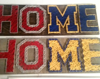Home Divided, Ohio State University and University of Michigan, OSU, UofM Made to Order