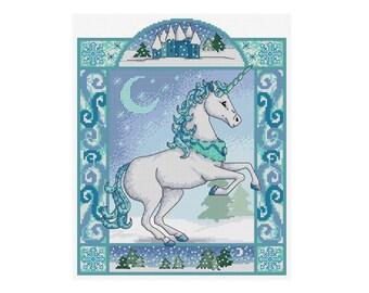 Winter Unicorn - Durene J Cross Stitch Pattern - DJXS 2212