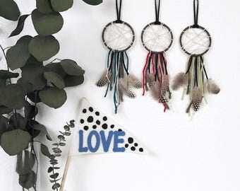 Boho Baby Boy Room Decor, First Birthday Party Favor, Nursery Dream Catcher, 1st Birthday Favor, Boy Baby Shower Favor, Baby Dream Catcher,