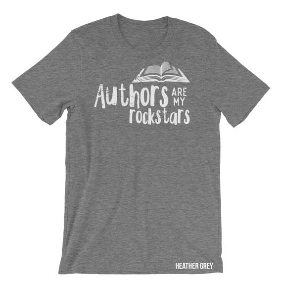 Librarian Tshirt Authors are my Rockstars | Book Nerd | Book Lover | Gift for reader | Reading Gift |Teacher