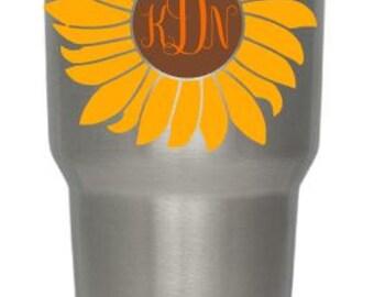 Sunflower Yeti Decal