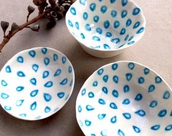 Small Bowls - Pottery Bowls - Ceramic Bowls - Porcelain Bowls - Hand Painted Bowls - Condiments Bowls - Bowl