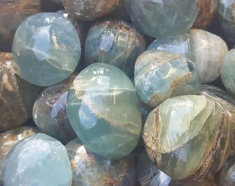 Argentinian Blue Calcite, One Argentinian Blue Calcite Stone