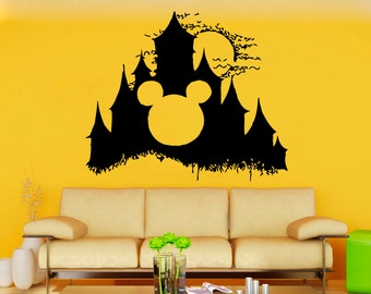 Disney Castle Mural Princess Castle Vinyl Pattern Girl's Room Wall Decoration Fairytale Interior Sticker Removable Decal (11dyce)