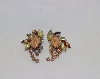 Vintage Judy Lee Clip Earrings