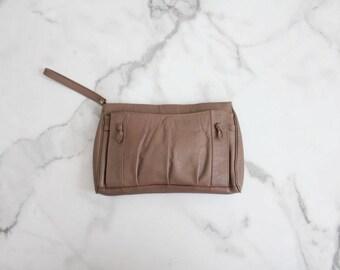 brown leather clutch   clutch bag   leather clutch purse