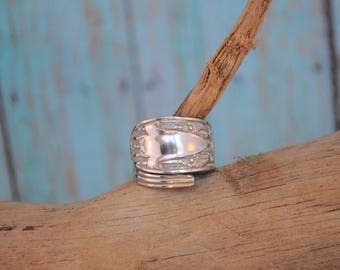 Vintage sterling spoon ring sterling silver ring classic spoon ring vintage sterling spoon ring wrap ring no monogram KO1244