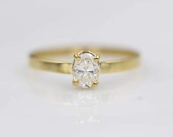 diamond engagement ring oval engagement ring oval cut diamond ring solitaire ring - Affordable Diamond Wedding Rings