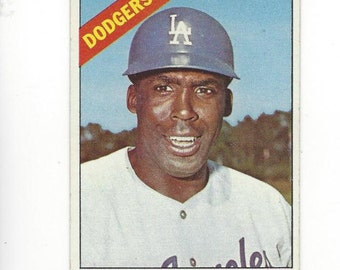 1966 Topps JOHNNY ROSEBORO Los Angeles DODGERS original Vintage card number 189 in good condition with very fuzzy corners