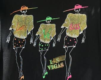 VINTAGE 80's Las Vegas Tourist Tee // Size XL