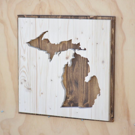Hardwood Flooring Suppliers Michigan: Items Similar To Michigan State Wood Plaque Silhouette On Etsy
