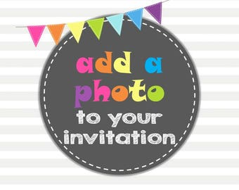 Add a Photo to your invitation