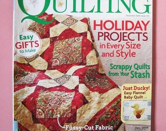 American Patchwork & Quilting magazine, December 2009, holiday quilt design, stashbuster projects