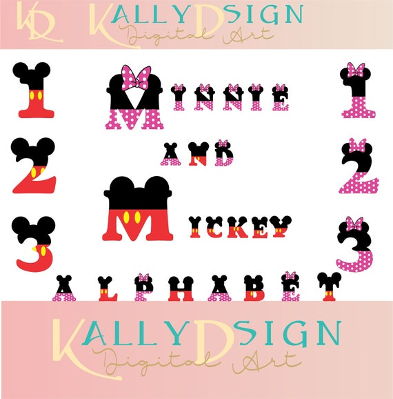 minnie mouse font mickey ears disney svg svg files alphabet letters 6364