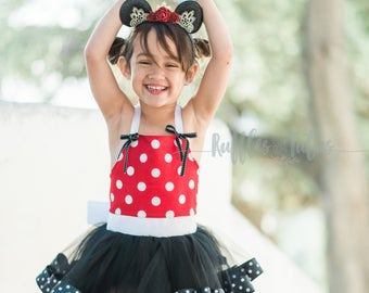Dream Princess Inspired Red Minnie Mouse,Perfect dress from your Disney trip! Baby, Toddler, Girls Birthday Dress, Princess Dress, Costume