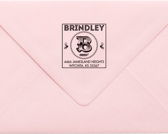 Address Stamp, Custom Personalized Address Stamp, Self Inking Return Address Stamp, Personalized Address Stamp, Custom Wedding Stamp 732