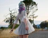 Lace tunic, whimsical women's fashion, trendy clothing for women, boho fashion, white lace top, handmade clothing, gift for women