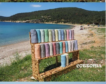 Striped Turkish Towel,Stirepe Beach Towel,Natural Cotton Towel,Stripe Peshtemal Towel,Stripe Fouta,Striped Bath & Beach Towel,fouta