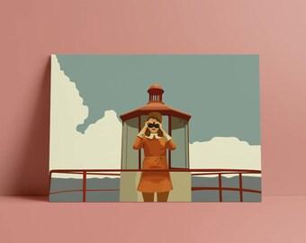 Moonrise Kingdom Suzy Bishop Printable Poster, Digital DOWNLOAD, Pop Culture, Wes Anderson Movie Illustration, Film Art Print