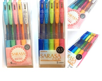 5C Set: Zebra 0.5 Sarasa Milk or Sarasa Clip Pens