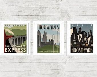 Harry Potter Retro Poster Art Film Poster Movie Poster