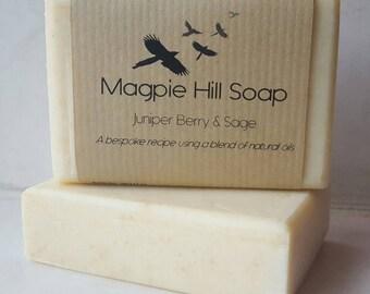 Juniper & Sage Handmade Soap. Herb Soap. Juniperberry and Sage. Cold process soap