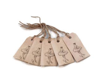 Gift Tags, Ballerina, Favor Tags, Tea Stained, Grungy Tags, Party Favors, Organization Tags, Primitive Tags, Merchandise Tags, Hang Tags