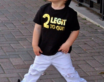 2 Legit To Quit Birthday Shirt, 2nd Birthday Shirt, Hipster Birthday Shirt, Cool Birthday Shirt, Too Legit, Birthday Shirt, Hipster, Urban