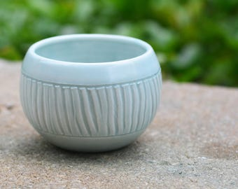 Blue Celadon Planter // Handmade by Jackson Fyfe // One of a Kind, Great for Wedding Gift, Succulent Planter