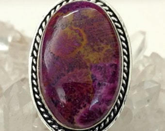 Fossil Coral Ring, Size 8