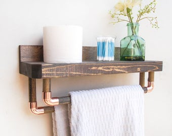 Bathroom Storage Rustic Towel Rack