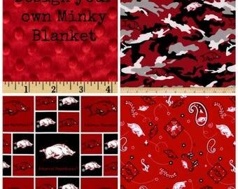 Arkansas Razorback Blanket,Arkansas Razorback Throw,Arkansas Minky Blanket,Razorback Throw,Razorback gift,Razorback baby shower gift