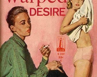 Lesbian pulp vintage art print—Warped Desire